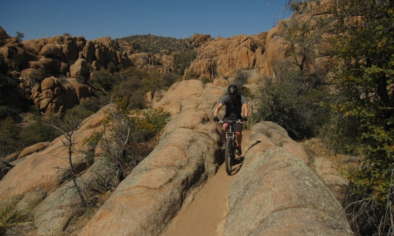 Mountain Biking through the challenging Granite Dells