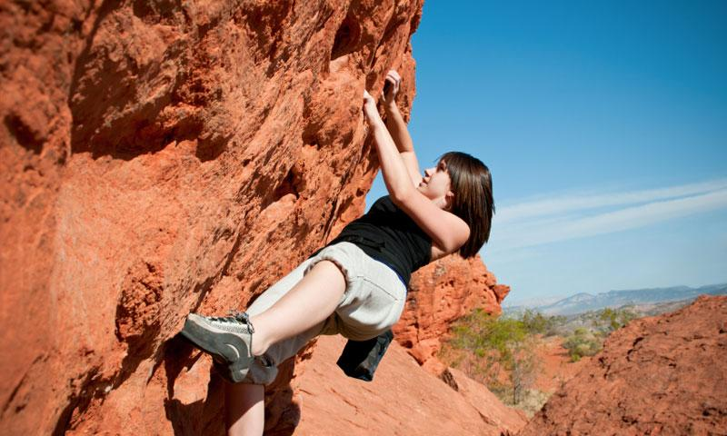 Climbing Red Rock