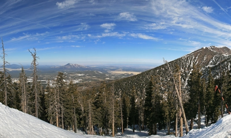 Arizona Snowbowl with Mount Humphreys
