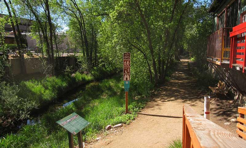 A Trail through Prescott along Granite Creek