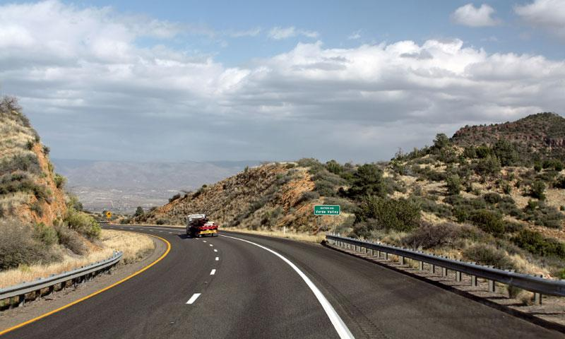 Scenic Drive into Verde Valley